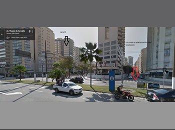 EasyQuarto BR - Dividir Ap. ao lado da praia, excelente preço., Santos - R$ 450 Por mês