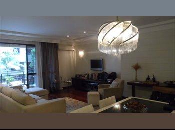 EasyQuarto BR - Alugo suite em amplo apartamento no coração do Gonzaga - Santos, Santos - R$ 1.700 Por mês