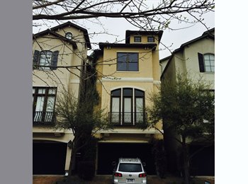 EasyRoommate US - Master Bedroom  - Museum District Townhouse - Minutes from Med Center, Hermann Park, Rice University, Museum District - $1,000 pm