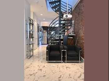 EasyRoommate US - Loft Style Duplex Apartment with Rooftop - Adult Dorm Concept , Astoria - $1,375 pm