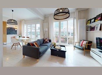 Appartager BE - EU QUARTER PENTHOUSE  double room 580Euro, Ixelles-Elsene - 580 € pm