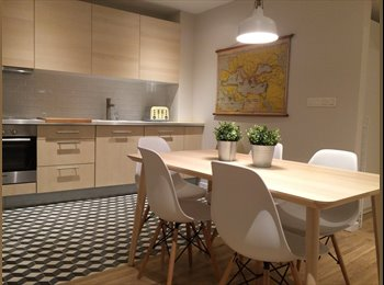 Appartager BE - EU INSTITUTIONS, DBL ROOM IN new APARTMENT bright & sunny, Ixelles-Elsene - 550 € pm