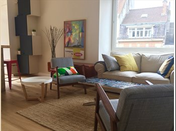 Appartager BE - Chatelain/Louise apart with terrace, single room 480Euro, Ixelles-Elsene - 480 € pm