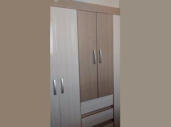 EasyQuarto BR - alugo um quarto mobiliado  no centro de londrina, o apartamento é todo imobiliado, cada pessoa tem s, Londrina - R$ 400 Por mês