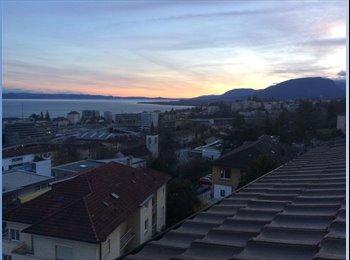 EasyWG CH -  Chambre libre dans coloc - vue magnifique du lac, Neuchâtel - 767 CHF / Mois
