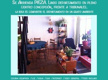 CompartoDepto CL - Arriedo linda Pieza en dpto pleno centro de conce, Concepción - CH$ 170.000 por mes