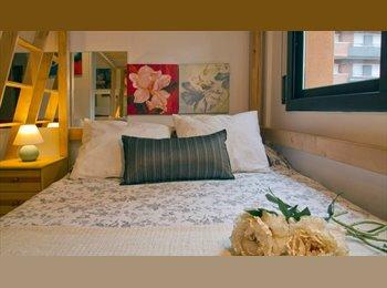 EasyPiso ES - Bonita habitacion exterior en piso de lujo, Les Corts - 485 € por mes