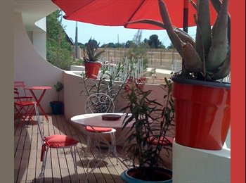 Appartager FR - Coloc juillet, Aout T3 standing, chambre double, sdb, terrasse. Poss/ Semaine, Montpellier - 550 € /Mois
