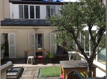 Appartager FR - DANS GRANDE MAISON de 100m2 avec terrasse / Métro Voltaire - Chambre disponible à partir du 26 fev, 11ème Arrondissement - 620 € /Mois
