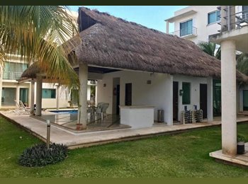 CompartoDepa MX - Se renta habitacion doble Centro de Cancun , Cancún - MX$6,000 por mes