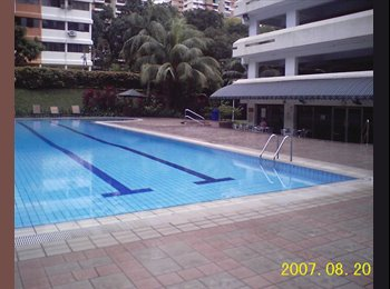 EasyRoommate SG - Condo F/Furn Room With Free Car Park Lot & Cable TV  - 2 MRTs, Caldecott - $1,100 pm