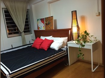 EasyRoommate SG - $1,200 - No agent fee - Master bedroom fully furnished in a bright and breezy house, One-North - $1,200 pm