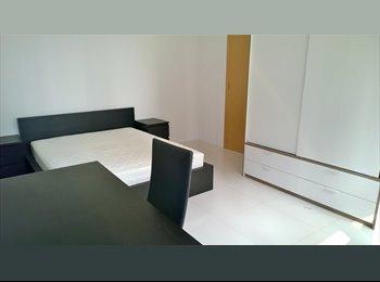 EasyRoommate SG - Full Furnish Large Queen Bedroom , Shenton MRT, Singapore - $2,300 pm
