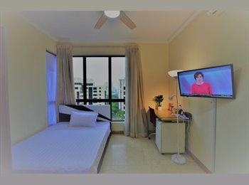 EasyRoommate SG - Walk to One North/Buona Vista MRT: Bright Room/Private Bath, One-North - $1,600 pm