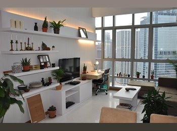 EasyRoommate SG - Whole 2 Bedroom Luxury Loft Apartment - $5200 pcm, Telok Ayer - $5,200 pm