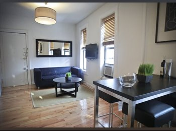 EasyRoommate US - Available Now ! Fully Furnished - Sun Drenched 3 Bedroom, 1.5 Bath Apt ! Soho , Nolita - $1,600 pm