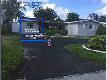 EasyRoommate US - NEWLY RENOVATED PRIVATE ROOM & PRIVATE BATHROOM FOR RENT IN PEMBROKE PINES, Pembroke Pines - $1,000 pm