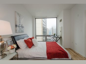 EasyRoommate US - Private Bed & bath- all util. incld. except elec.-Loop/ Southloop-$1300, Dearborn Park - $1,300 pm
