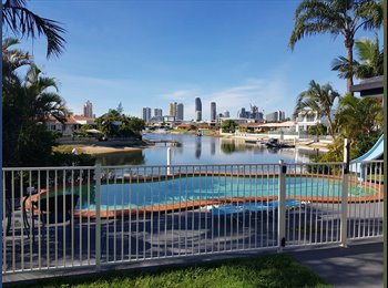 EasyRoommate AU - Room for rent in  canal home , Gold Coast - $220 pw