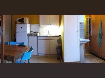 Appartager BE - Gare de Jette 3 min. à pied, studio meublé & éqp 1-2pers wifi tv parcs, Jette - 400 € pm
