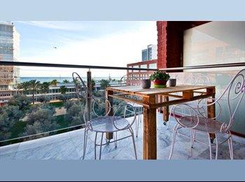 EasyPiso ES - Terraza - Vista al mar a 100m de la playa - Amueblado - 12m2, Sant Martí - 500 € por mes