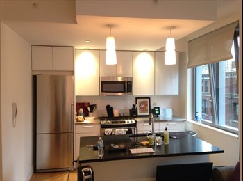 EasyRoommate US - FURNISHED BEDROOM IN AMAZING LUXURY APARTMENT , Hell's Kitchen - $1,550 pm