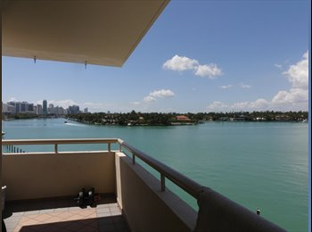 EasyRoommate US - 1100ft2 - $950/1br-1ba in a 2br/2ba apartment with awesome ocean view, Surfside - $950 pm