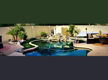 EasyRoommate US - Beautiful San Tan Home sparkling pool-home theater-sauna, Garden Hills - $435 pm