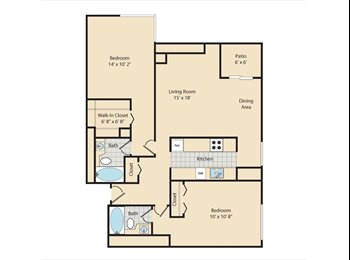 EasyRoommate US - Uptown gorgeous apartment with private bedroom and private bath, North Capitol Hill - $1,000 pm