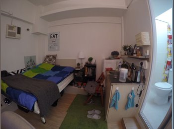 EasyRoommate HK - BV-Rm3-cosy big Studio with all you need, Victoria Park (no window), Tai Hang - HKD7,700 pcm