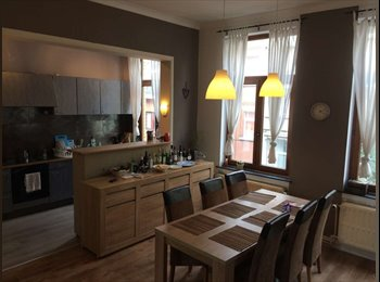Appartager BE - Spacious room to rent in eco-renovated mansion house in Etterbeek (EU area) 525+100 euros, Etterbeek - 525 € pm