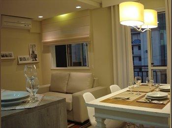 EasyQuarto BR - Quarto de solteiro - cama box - ar split Q/F - escrivaninha - prédio novo, Canoas - R$ 1.380 Por mês