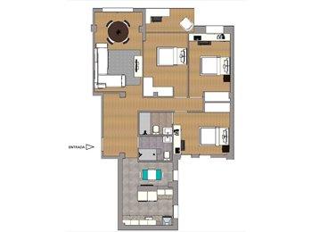 EasyPiso ES - Habitación exterior, H1 en León XIII,  13m2: 450€/mes, gastos incluidos, Zaragoza - 450 € por mes