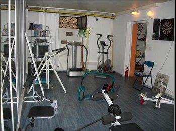Appartager FR - 3 Studios indépendants + Concept colocatif 130m² Gym, Ciné, Jardin, etc... , Valence - 470 € /Mois
