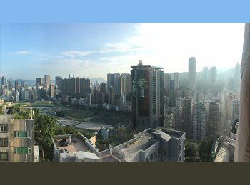 EasyRoommate HK - V affordable &  beautiful room in huge flat AVAILABLE FROM 1 MAR with breathtaking view in Happy Val, Happy Valley - HKD9,750 pcm