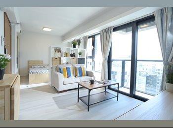 EasyRoommate HK - Furnished Studio Apartment at Jordan MTR near Tsim Sha Tsui, Jordan - HKD18,000 pcm