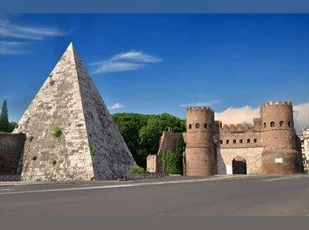 EasyStanza IT - Affitto ampia stanza singoa matrimoniale, Piramide, Aventino-S.Saba - € 450 al mese