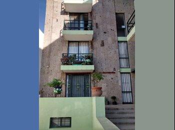 CompartoDepa MX - Habitación en departamento muy céntrico frente a la Clínica 1 del IMSS Av. de la Convención de 1914 , Aguascalientes - MX$2,800 por mes