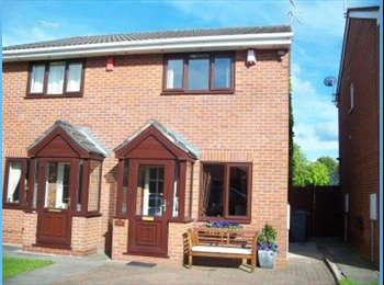 EasyRoommate UK - FEMALE PREFERABLY WANTED NON-SMOKER TO SHARE A 2 BED SEMI-DETACHED HOUSE (INCL. BILLS), Bradeley Village - £360 pcm