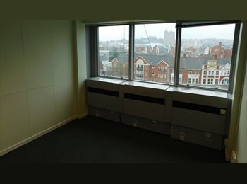 EasyRoommate UK - Large double room £250 incl bills in former office block near Newport City Center., Newport - £250 pcm