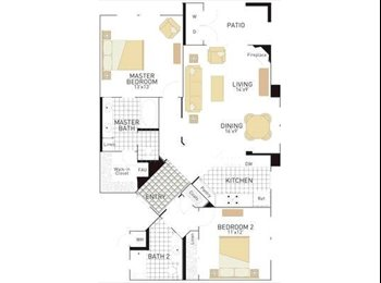 EasyRoommate US - $1115 2bdrm / 2 bth Share Apartment in Gated Community (Irvine, CA), Orange County - $1,115 pm