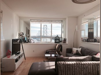 EasyRoommate US - $2400 SOMA bedroom + bath in modern apartment with amazing Bay Bridge view!! (SOMA / south beach), South Beach - $2,400 pm