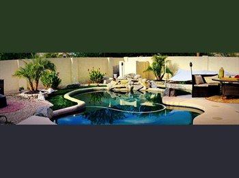 EasyRoommate US - Beautiful San Tan Home sparkling pool-home theater-sauna, Garden Hills - $435 pm