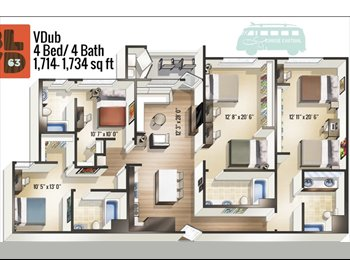 EasyRoommate US - ROOMMATES NEEDED FOR BLVD63, College East - $900 pm