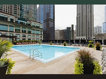 EasyRoommate US - Room Available in Amazing River North Condo w Pool!, Streeterville - $1,300 pm