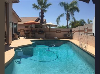 EasyRoommate US - Beautiful room for rent in large east valley home. , Dobson Ranch - $700 pm