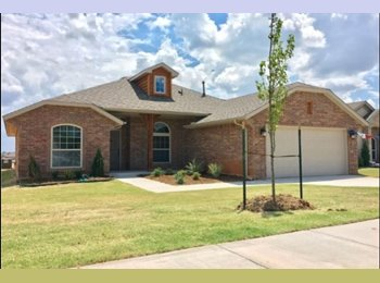 EasyRoommate US - Room for Rent - NEW House 6 Minutes from OU in Bellatona, Norman - $550 pm