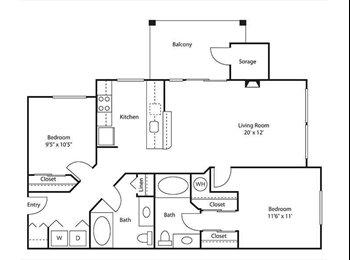 EasyRoommate US - Private Room and Bath in Cedar Mills Apartment, Beaverton - $900 pm