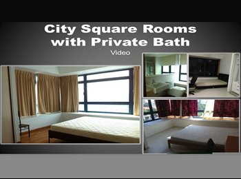 EasyRoommate SG - City Square | Rm with Private bath, Serangoon - $1,600 pm