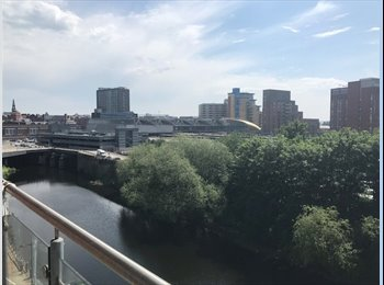 EasyRoommate UK - Double room to let in 2 bed city centre apartment., Leeds - £388 pcm